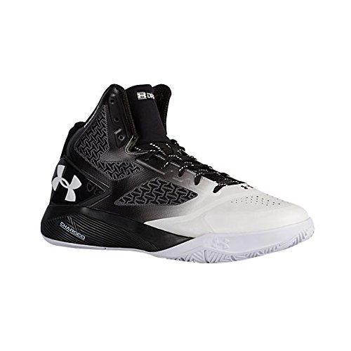 反発飲み込む有効な(アンダーアーマー) UNDER ARMOUR メンズ バスケットボール シューズ Clutchfit Drive 2 Black/Charcoal/White 10 [並行輸入品]