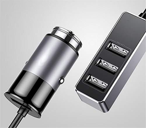 NUO-Z Cargador de Coche USB, Cargador USB para Coche 4 Puerto 5.5A Adaptador de Cargador rápido para Pasajero con extensión...