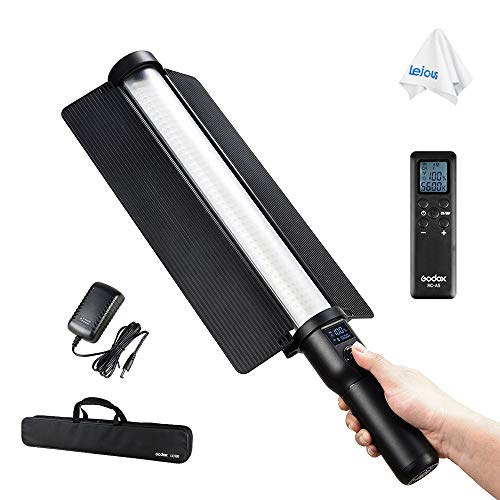 Godox LC500 Led Light Stick 3300K~5600K Adjustable Handheld Shooting Light Stick with Built-in Lithiunm Battery, Remote Control, AC Power Charger and Carrying Case