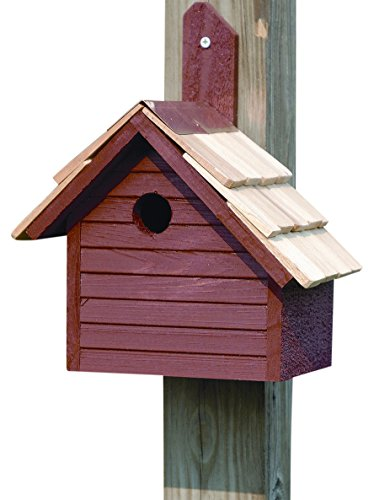 Heartwood 039C Cape Cod Wren Decorative Bird House (Cypress Birdhouse Redwood)