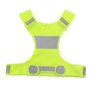 VanSafety Safety Reflective Vest Short Design Running Cycling at Night Sports Vest, M