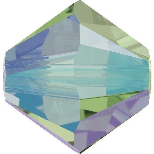 5328 Swarovski Crystal Bicone Beads Erinite Shimmer 2X | 3mm - Pack of 50 | Small & Wholesale Packs
