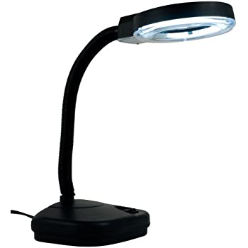 Eurotool reading lamp illumination magnifier glass with 5x and 10x zoom