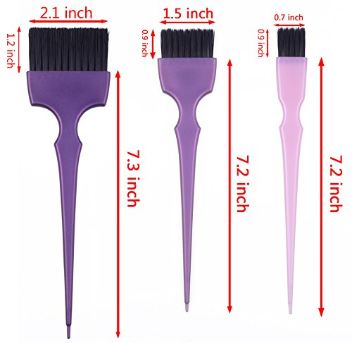 Hair Dye Coloring Brushes Kit Color Applicator Tint Brush-6 Pieces by Perfehair (Image #2)