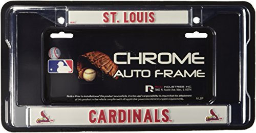 MLB St. Louis Cardinals Chrome License Plate - Louis Shop