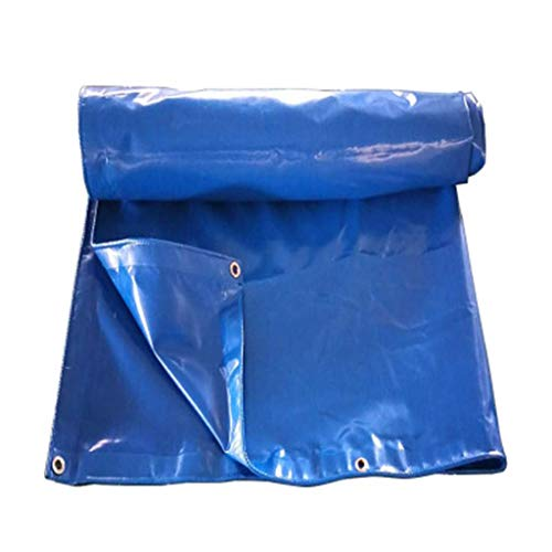 JDlipt Tarpaulin Waterproof, PVC Blue Plastic Sheet Tarp 500 Gram/Square with Aluminum Buttonhole. (Size : 4m5m)