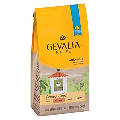 Gevalia Colombia Blend Coffee, Medium Roast, Ground, 12 Ounce Bag