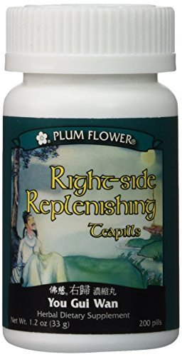 Right Side Replenishing Teapills (You Gui Wan), 200 ct, Plum Flower by Plum Flower (Gui You Wan)