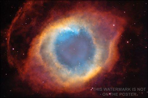 Helix Nebula, Hubble Space Telescope Poster
