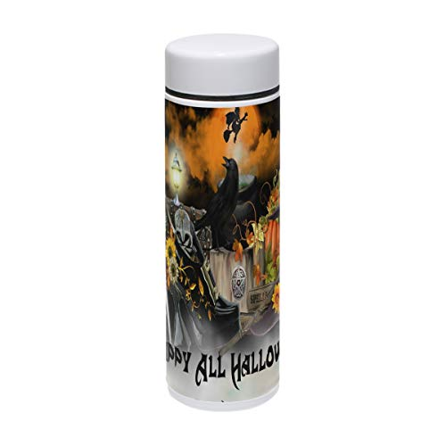 Coffee Thermos Halloween Mystery Decoration Wallpaper Vacuum Insulated Small Womens Thermos Flask Stainless Steel Water Bottles Leak Proof Travel Coffee Mugs 7oz / -