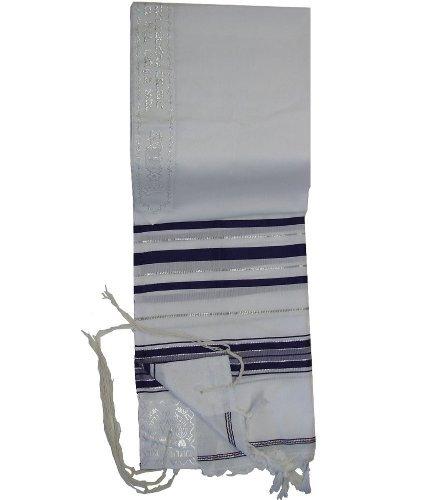 Talitnia Acrylic Tallit (Imitation Wool) Prayer Shawl Bla...