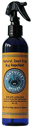 Nantucket Spider Best Natural Bug Repellent Essential Oil Mosquito Spray Insect Repellent (8 Ounce Spray) Humans, Adults, Kids, Horses, Skin, Clothes, Organic Oil Best Natural Bug Spray Fly, No See Ums