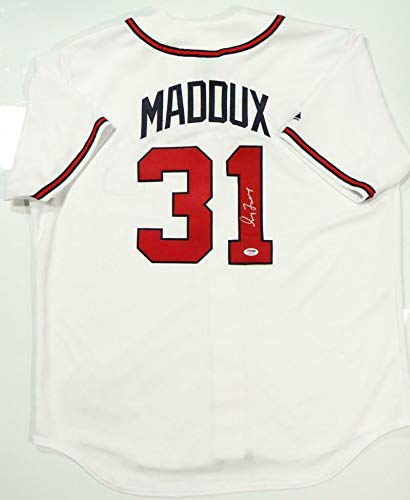 hot sale online 8dc70 a6bd3 Greg Maddux Signed Jersey - White Majestic Auth *1 - PSA/DNA ...