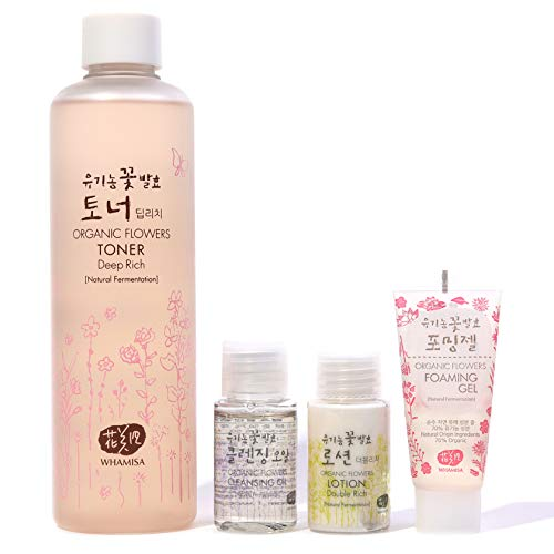 Whamisa Organic Flowers Deep Rich Essence Toner 300ml/10.1 fl.oz. with Deluxe Miniatures by Whamisa (Image #2)