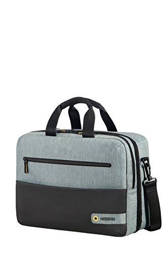American Tourister City Drift 3-Way Boarding Portable Handbag Hanger, 40 cm, 19.5 Liters, Black/Grey