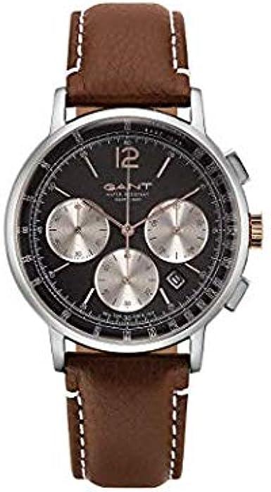 Gant Reloj Analógico para Hombre de Cuarzo con Correa en Cuero 7630043931035