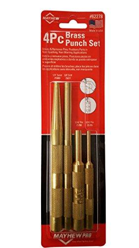 Mayhew Tools 62278 4 Piece Brass Punch Set