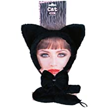 Forum Novelties Women's Cat Accessory Kit, Black, One Size