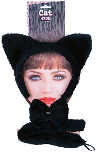Forum Novelties Women's Cat Accessory Kit, Black, One -