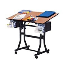 Martin U-DS90B Creation Station Art-Hobby 24-Inch by 40-Inch Surface Table, Black with Cherry Top