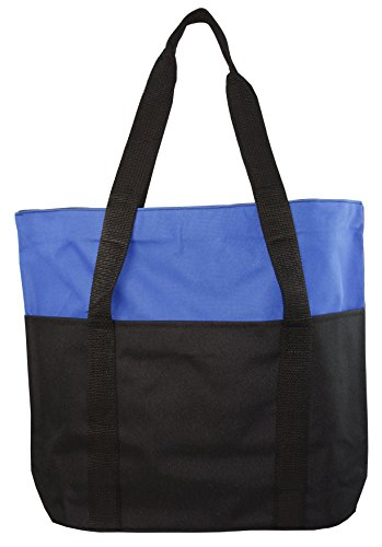 Large Spacious Poly Zipper Tote Bag (Tote Zippered Tone Bag)