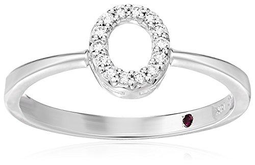 Roberto Coin Women's 001634AWLRXO Diamond Initial Ring, White, Size 7 ()