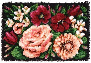 Caron Rug Kits - Floral Divine Latch Hook Rug Kit - Latch Hook Kit
