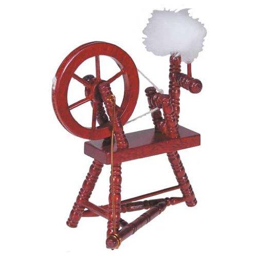 Dollhouse Miniature Mahogany Spinning Wheel, Baby & Kids Zone