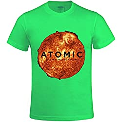 Mogwai Atomic Men T Shirts Crew Neck World Tour Green