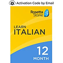 Rosetta Stone: Learn Italian for 12 months on iOS, Android, PC, and Mac- mobile & online access [PC/Mac Online Code]