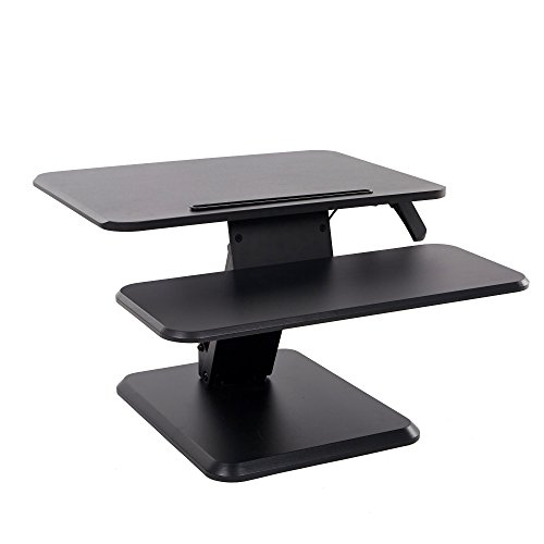 Lucky Tree Height Adjustable Standing Desk Converter Computer Monitor Riser Ergonomic Sit to Stand Desktop with Keyboard Tray for Gaming and Office by Lucky Tree