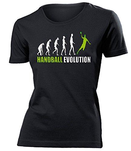 Sport - HANDBALL EVOLUTION - mujer camiseta Tamaño S to XXL varios colores Negro / verde