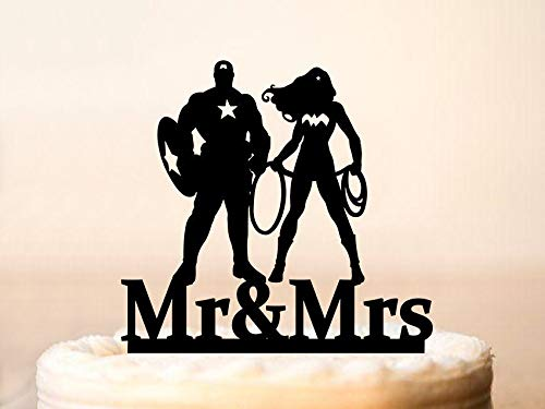 Wedding Cake Topper Wonder Woman And Captain America Cake Toppers