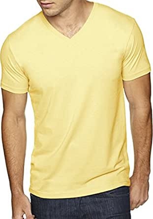 Next Level Apparel 6440 Mens Premium Fitted Sueded V-Neck Tee - Banana Cream44; Extra Small