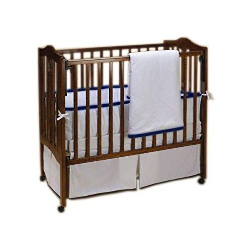 Baby Doll Bedding Forever Mine Junior Crib Bedding Set, Navy by BabyDoll Bedding   B00YXV141G