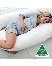 Australian Made Pregnancy/Maternity/Nursing Pillow Body Feeding Support (Pillowcase Included) (White)