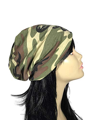 Camouflage Slouchy Beanie Camo Slouch Hat Men Camo Slouch Hat Women Unisex Camouflage Slouchy Beanies CUSTOM SIZE/LINING