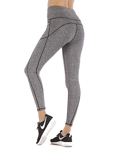 Women High Waist Yoga Pants with Phone Pocket Tummy Control Workout Running Tight 4 Way Stretch Yoga Leggings (Best Running Pants With Pockets)