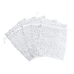 Anleolife 50pcs Sheer Organza Wedding Favor Bags Bridal Shower 6\