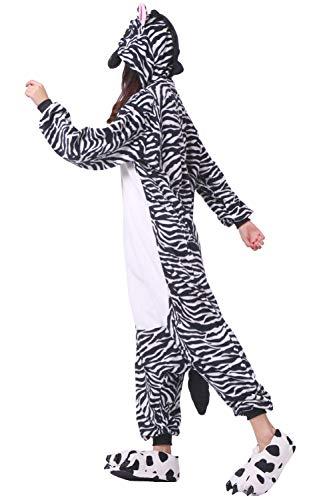 Unisex Cosplay animal Traje Cebra Mono Adulto de Pijama nYOOga