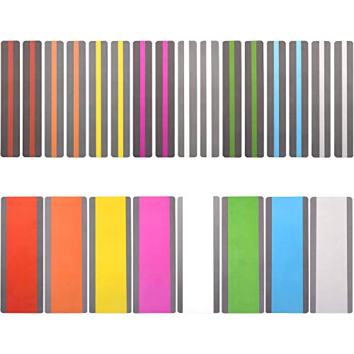24 Pack Reading Guide Strips Highlighter Colored Overlays Bookmark Read Strips Assorted Colors Strips for Children,Teacher, Dyslexia People(8 Colors) (Highlighted Bookmarks)