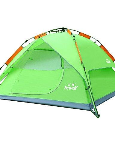 HIIY Zelt ( Grün/Blau/Armeegrün , 3-4 Personen ) - Feuchtigkeitsundurchlässig/Wasserdicht/Atmungsaktivität/Regendicht/Winddicht/warm halten