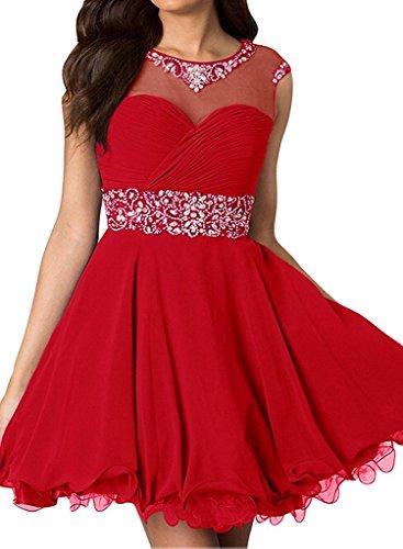 Braut von Oberhalb Kurz Damen Knie Steine Rot Promkleider Cocktailkleider Silber Partykleider La Marie Blau Mini 7wqn0PUU5