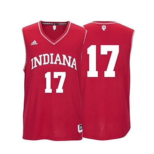adidas Indiana Hoosiers NCAA 17 Red Replica Basketball Jersey