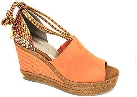 Tamaris 28312 Aspen Womens Wedge Sandal Orange 1041: Amazon