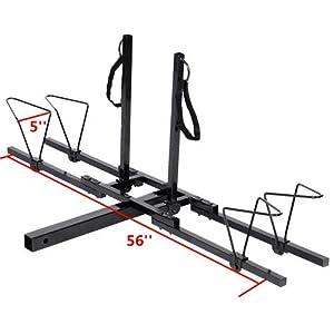 "New Upright 2 Mountain Bike Rack Hitch Carrier 2"" Rear for SUV VAN Truck Bike Rack"