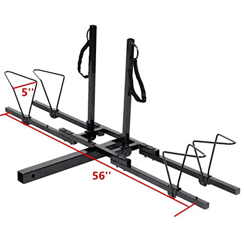 New Upright 2 Mountain Bike Rack Hitch Carrier 2