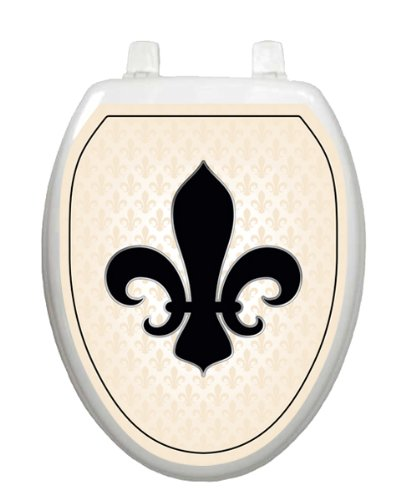 French Lily Cream Gold Toilet Tattoo Tt 1058 O Elongated
