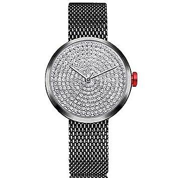 Relojes de hombre Mujer Reloj de Pulsera Cuarzo Cronógrafo Encantador La imitación de diamante Acero Inoxidable