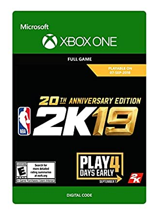 NBA 2K19: 20th Anniversary Edition - Xbox One [Digital Code]
